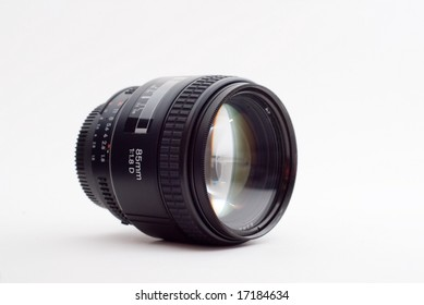Camera Lens isolated in white background