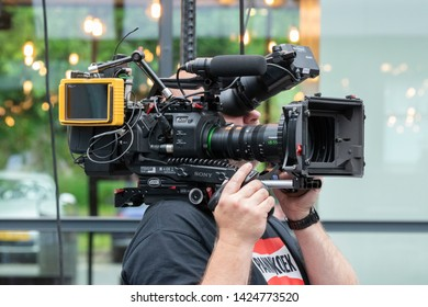 Camera Man At Amsterdam The Netherlands 2019
