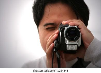 camera man frontal