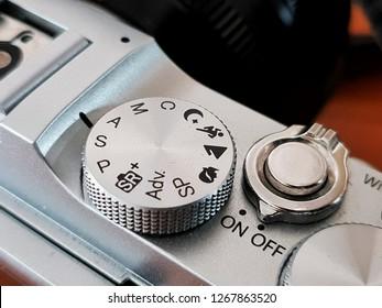 camera mode dial button