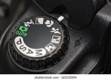 Camera mode dial Macro mode