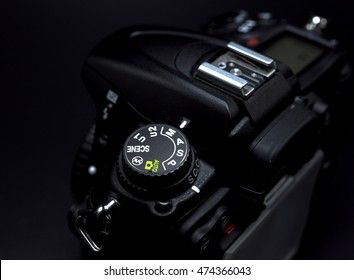 Camera mode dial Shutter priority mode