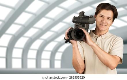 Camera Operator, Home Video Camera, Television Camera.