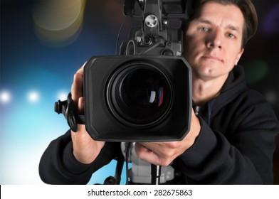 Camera Operator, Camera, Movie Camera.