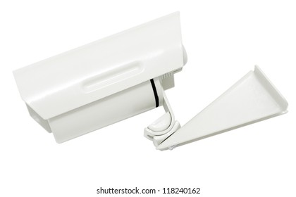 a camera for outdoor video surveillance - security systems, isolated, clipping path