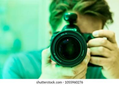 Camera Photographer Lens Lighting Photo Slefie