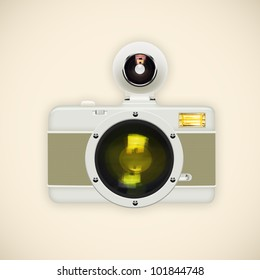 camera ,retro and vintage style ,graphic design