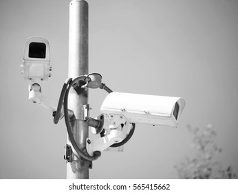 Camera security, black and white
