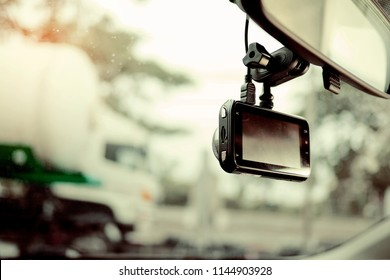 camera video recorder, driving, safety on road,