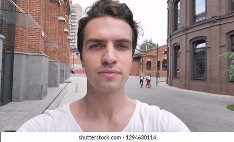 Camera View of Man Taking Selfie on Phone