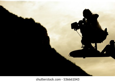 Cameraman flying