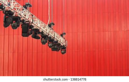 Cameras hanging on ground roof
