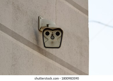 Cameras hanging on the wall
