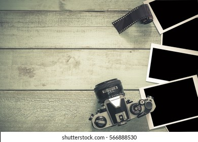 Cameras and image, film.Image space to insert your image in Vintage color.