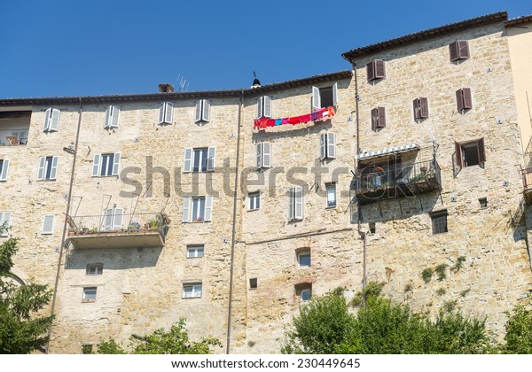 Camerino (Macerata, Marches, Italy): the historic town at morning