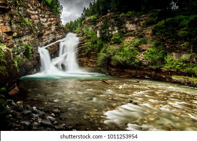 Cameron fall in Waterton Lakes National Park