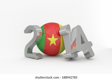 Cameroon 2014 on white background