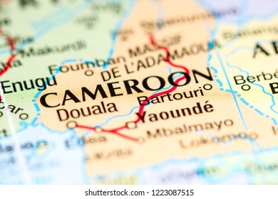 Cameroon. Africa on a map