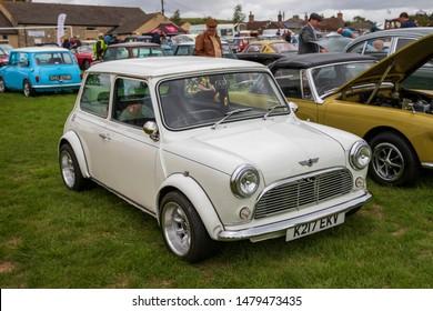 Camerton, UK, August 11, 2019: Rover Mini, 1992, Reg No K217 EKV, at The Norton Radstock Classic Vehicle Club, Camerton 2019