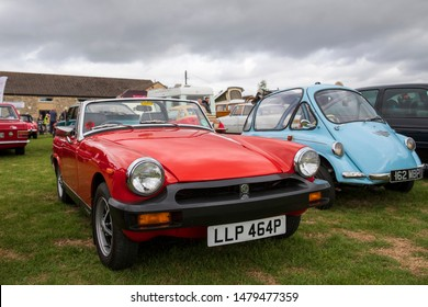 Camerton, UK, August 11, 2019: MG Midget 1500, 1975, Reg No LLP 464P, at The Norton Radstock Classic Vehicle Club, Camerton 2019