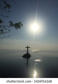 Camiguin Island famous Sunken Cemetery