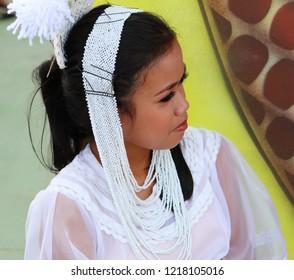 CAMIGUIN ISLAND, PHILIPPINES, OCTOBER 27 2018:  Camiguin Lanzones Festival 2018