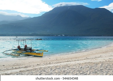 CAMIGUIN, PH - DEC. 19: White Island on December 19, 2016 in Camiguin, Philippines. White Island is an uninhabited white sand bar located  in Mambajao, Camiguin, Philippines.