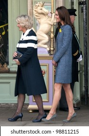 Camilla Duchess of Cornwall and Catherine Duchess of Cambridge visit Fortnum and Mason, London, UK. March 1, 2012, London, UK Picture: Catchlight Media / Featureflash