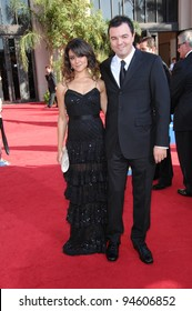 Camille Guaty & Seth McFarlane at the 59th Primetime Emmy Awards at the Shrine Auditorium. September 16, 2007 Los Angeles, CA Picture: Paul Smith / Featureflash