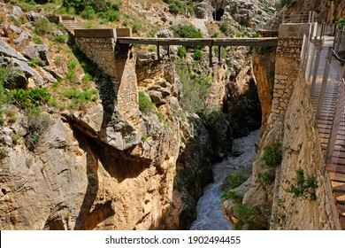 Caminito del Rey canyon track in Spain