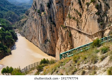 Caminito del Rey risky catwalk in Malaga (Spain)