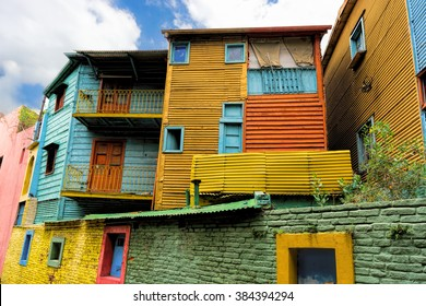 Caminito, a street museum and a traditional alley, La Boca, Buenos Aires, Argentina