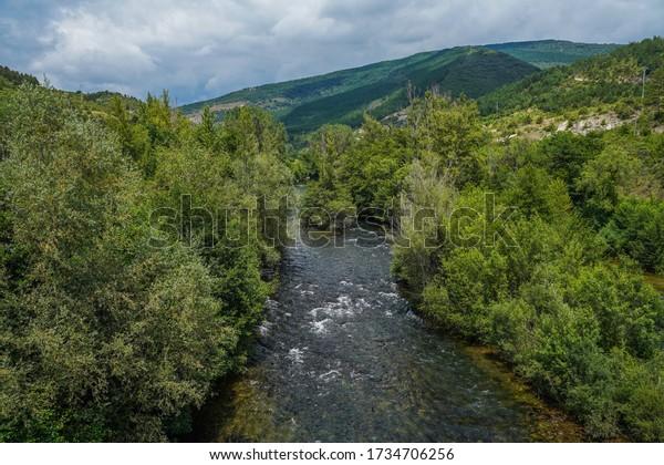 Camino de Santiago. Aoiz, village of Navarra,Spain