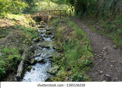 Camino de Santiago trail between Grado and Salas, Asturias, Spain
