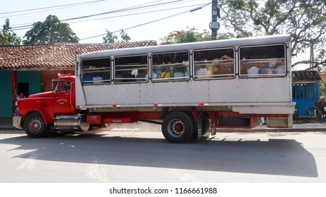 Camiones or Trucks, Way of Transportation in Vinales, Cuba for Poor People (28.06.2018)
