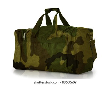 Camoflage Duffel Carry On Bag