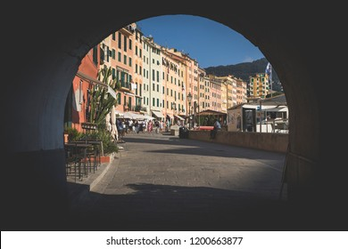 Camogli - Italy - 09/21/2018 - Via Giuseppe Garibaldi - Seafront of Camogli