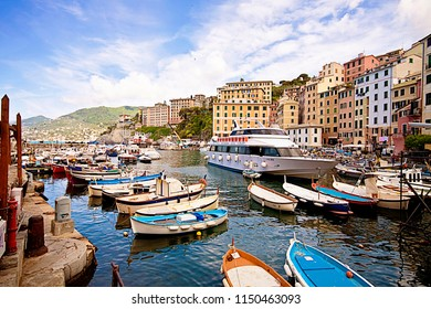 CAMOGLI, ITALY - MAY 13,2013 Harbor of Camogli, fisher village near Genoa on the Ligurian coast