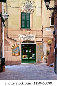 CAMOGLI, ITALY - MAY 13,2013  Typical bakery shop at old town of Camogli, fisher village on the Ligurian coast near Genoa, Italy