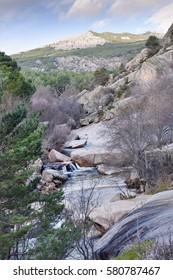 Camorza gorge in the Pedriza. Regional Park del Ato Manzanares. Manzanares el Real. Madrid. Spain. Europe.