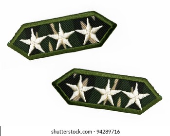 Camouflage army stars isolated on white background