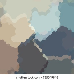 Camouflage background with curvilinear colored shapes in brown, grey and blue tones.