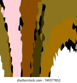 Camouflage background with curvilinear colored shapes in green, pink and white tones.
