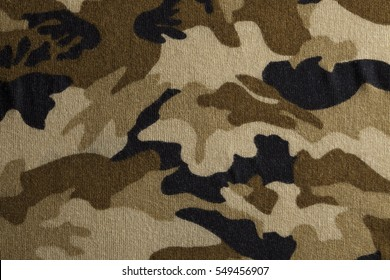 Camouflage fabric texture background.