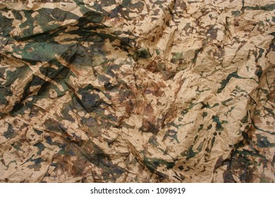 Camouflage folded paper. Look at my gallery for more backgrounds and textures