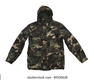 Camouflage jacket isolated on white. With clipping path