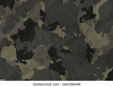 Camouflage pattern cloth texture. Abstract background and texture for design.