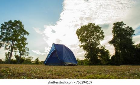 camp among meadow