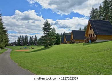 Camp ATC Podlesok, tourist resort in Slovak Paradise tourist destination. Camping in tents and wooden cottages.