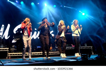 Camp Bestival - 28th July, 2017: British female group All Saints performing at Camp Bestival, Lulworth, Dorset 28 July 2017, UK